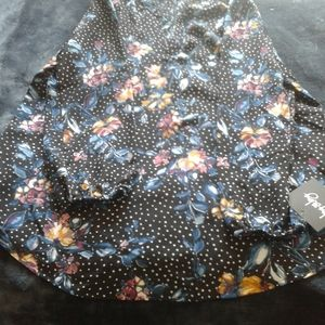 Woman's XL  - By & By Black Floral Blouse